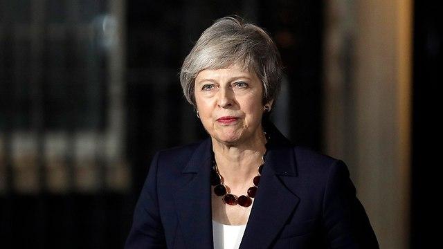 ראש ממשלת בריטניה תרזה מיי  (צילום: AP)