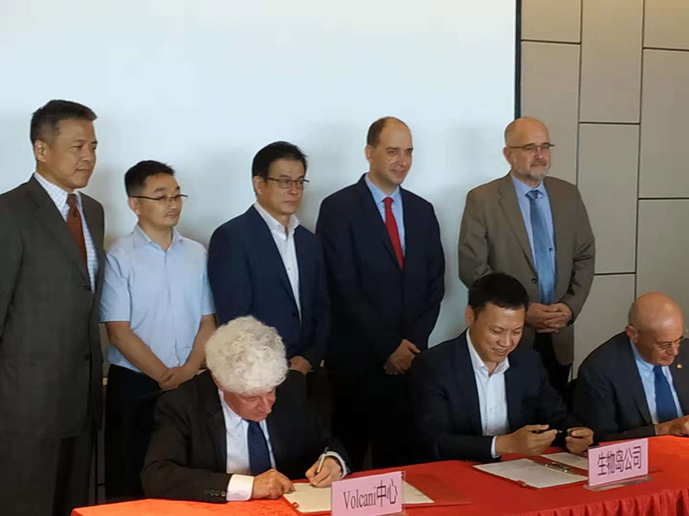 רכילות עסקית הסכם מכון וולקני – סין ()