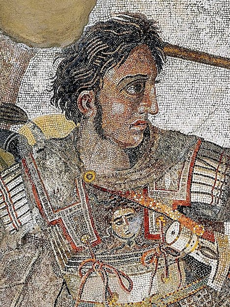 Alexander the Great, featureed in a Roman Era mosaic from the city of Pompeii. (Photo: Wikimedia Commons)