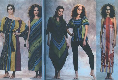 בדים שעיצבה בסוף שנות ה-70 ל''רקמה'', החברה של רוז'י בן יוסף (צילום: אוסף שמשי-הירש, ארכיון אדריכלות ישראל)