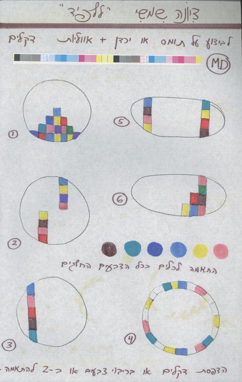 סקיצות למערכות כלים שעיצבה בשנות ה-80 עבור ''לפיד'' (צילום: אוסף שמשי-הירש, ארכיון אדריכלות ישראל)