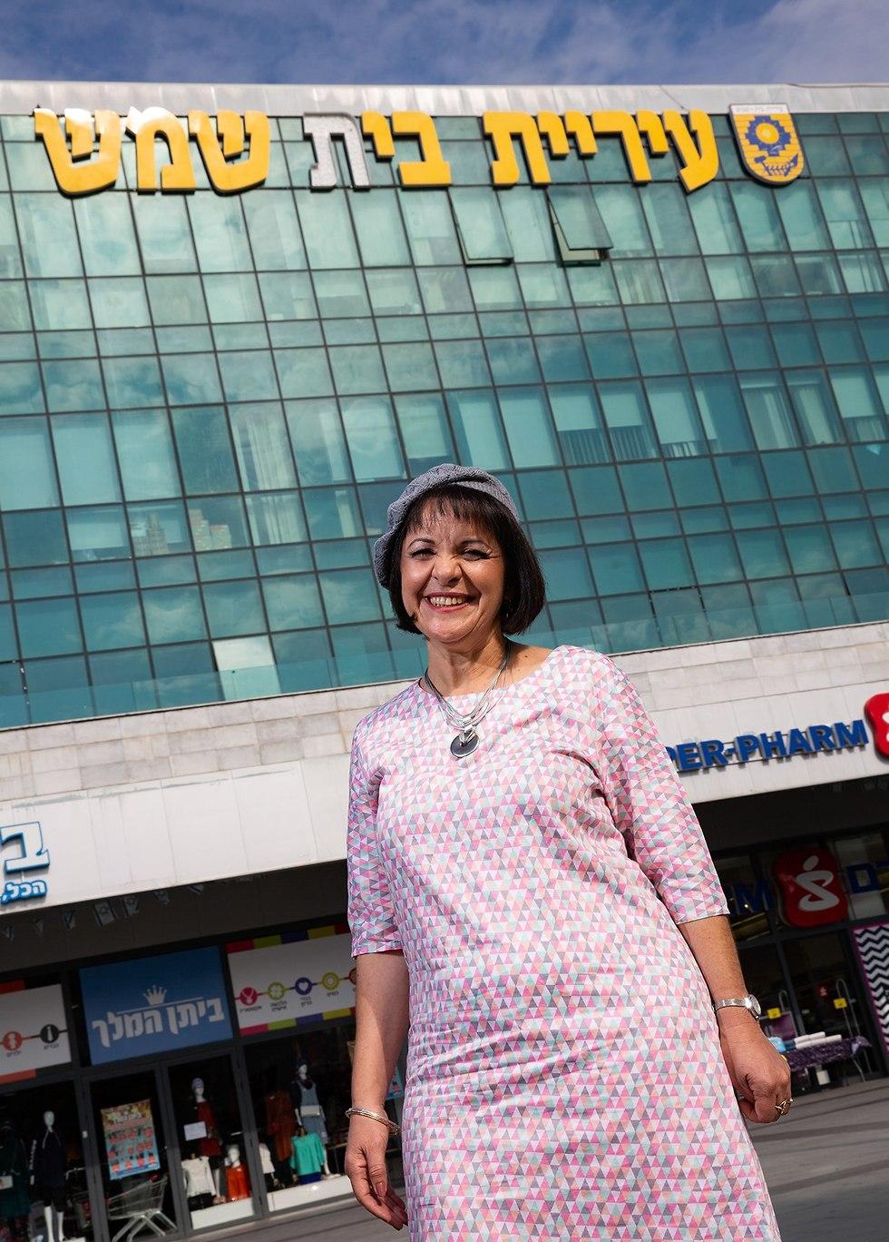 עליזה בלוך ראש עיריית בית שמש (צילום: אלכס קולומויסקי)