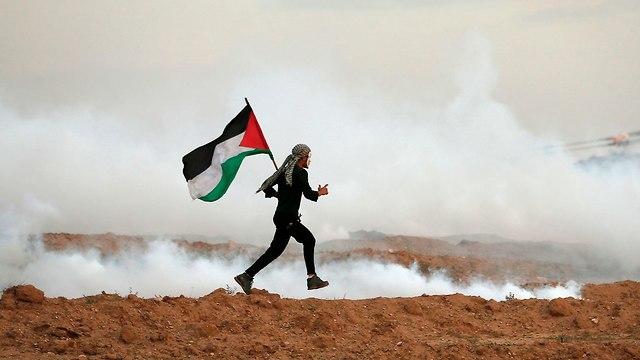 התפרעויות ברצועת עזה (צילום: AFP)