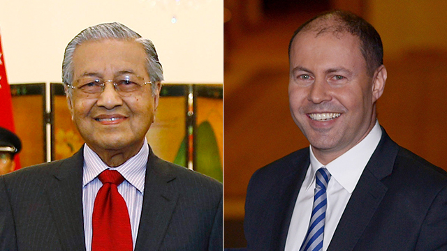 Malaysian Prime Minister Mahathir Mohamad and Australian Treasurer Josh Frydenberg  (Photos: AP, gettyimages)