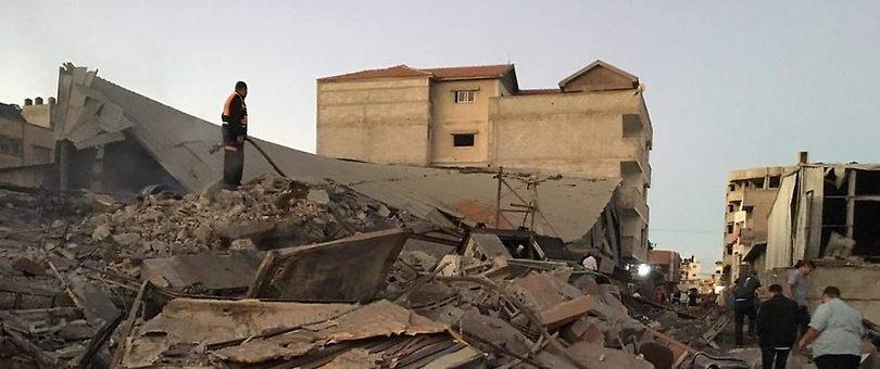 File photo: IDF attacks in the Gaza Strip
