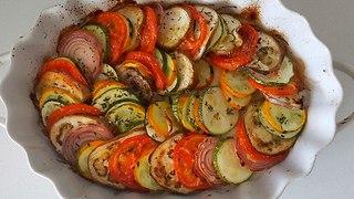 ירקות בתנור (צילום: מירי צדוק)