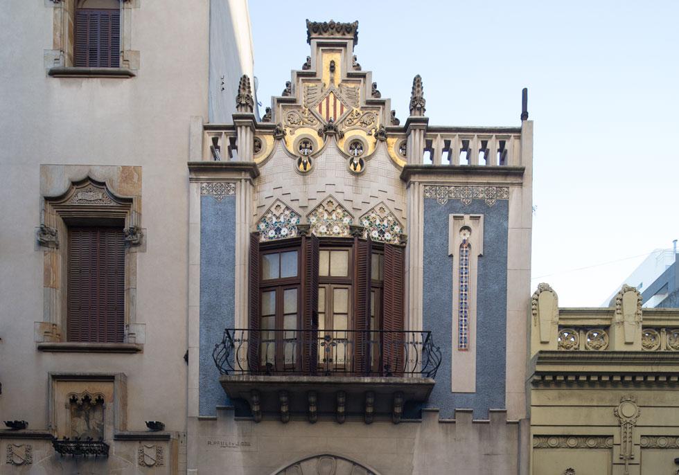 בניין Casal de Catalunya ברחוב Chacabuco באזור מונסראט. האדריכל, J. García Núñez, היה ממובילי הסגנון בארגנטינה (צילום: Gustavo Sosa Pinilla)