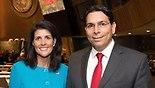 US Ambassador to the UN Nikki Haley (L), and Israel's Ambassador to the UN Danny Danon
