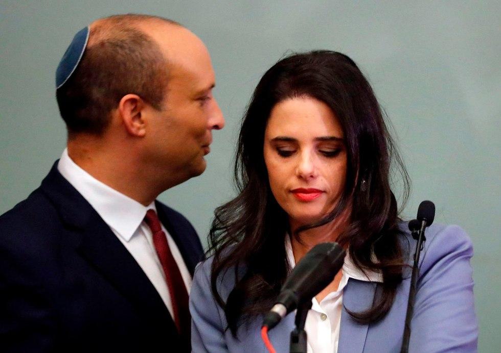 שקד ובנט (צילום: AFP)