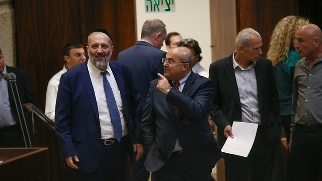 At the Knesset with Aryeh Deri (PHoto: Ohad Zwigenberg)