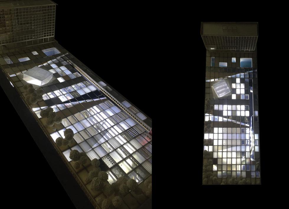 הדמיה של מבט מלמעלה. העירייה תפנה את משרדיה, והם יירדו אל מתחת לפני הכיכר (מודל: הילה רחימה)