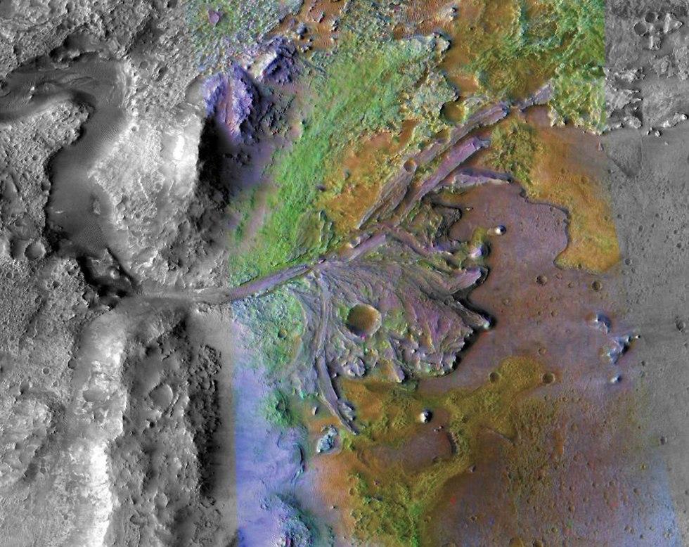 האזור שבו אמור לנחות רכב המאדים (צילום: נאס