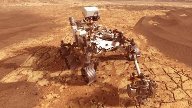 הדמיה של רכב המאדים (צילום: נאס