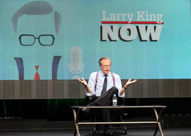 התוכנית החדשה שלו. לארי קינג NOW (צילום: Gettyimages)
