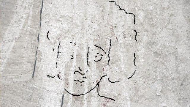 הציור מהתקופה הביזנטית (צילום: דרור מעיין)