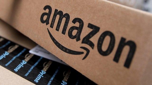 לוגו אמזון על קופסה (צילום: רויטרס)