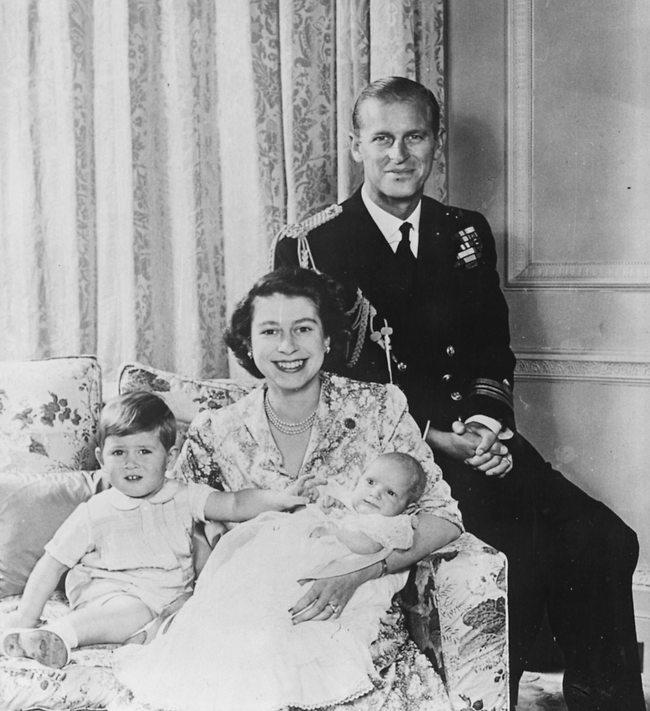 הורים לשניים. עם הנסיכה אן והנסיך צ'ארלס (צילום: Gettyimages)