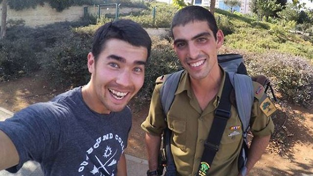 A picture of Chau from his visit to Israel, posing with a Golani Brigade soldier (Photo: Insragram)