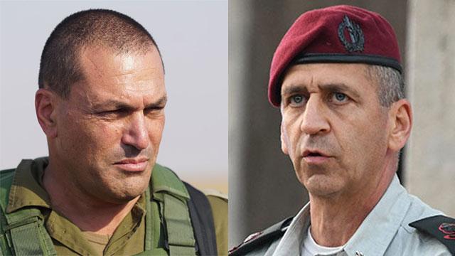 Le major-général Eyal Zamir (à gauche) et le major-général Aviv Kochavi