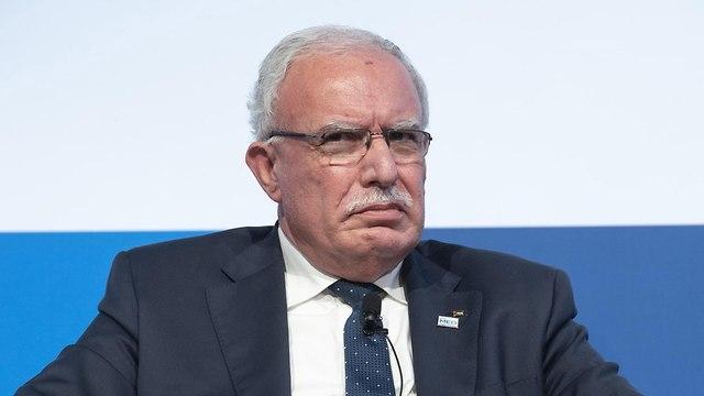 שר החוץ הפלסטיני ריאד אל מלכי (צילום: EPA)