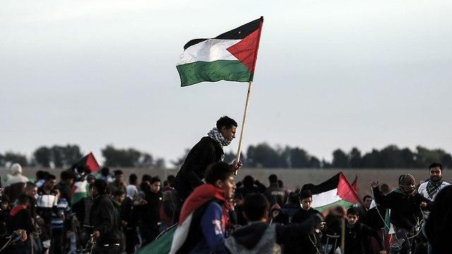 Protests at the Gaza border (Photo: AFP)