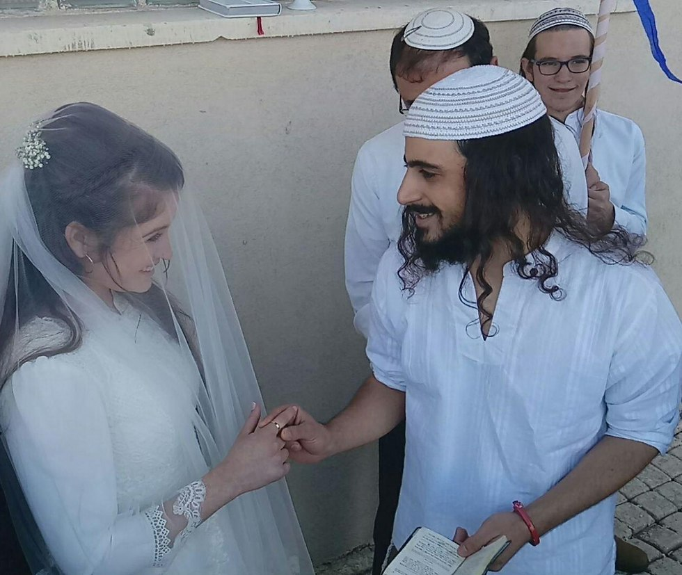 Reuveni gets married in prison (Photo courtesy of the family)