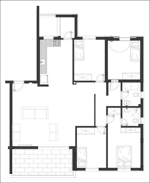תוכנית הדירה המקורית (תוכנית: סטודיו DOMA)