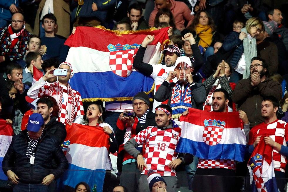 אוהדי קרואטיה גביע דייויס (צילום: EPA)
