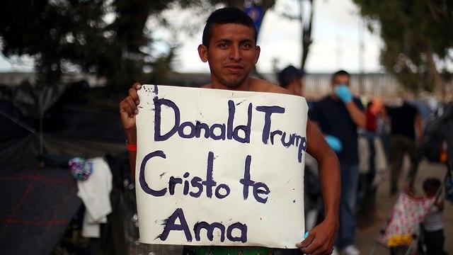 שיירת מהגרים מ מרכז אמריקה ארצות הברית מקסיקו דונלד טראמפ ארה