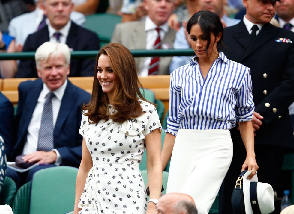 מרקל מקפידה לבדל את הסגנון שלה מזה של קייט מידלטון. יוני 2018 (צילום: AP)