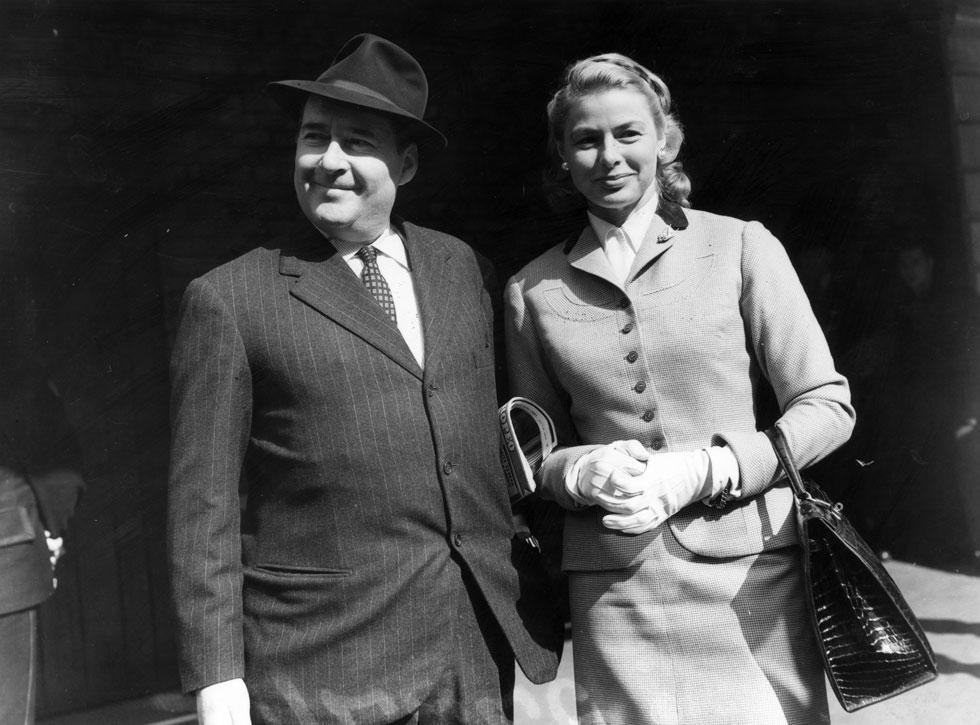 הסבתא אינגריד ברגמן והסבא רוברטו רוסליני. הוליווד הייתה מזועזעת (צילום: GettyimagesIL)