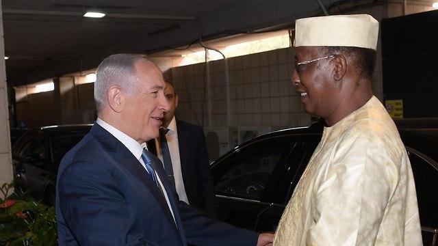 ביקור נשיא צ'אד אידריס דבי יחד עם ראש הממשלה בנימין נתניהו בירושלים (צילום: עמוס בן גרשום, לע