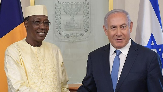 Netanyahu with President Idriss Déby  (Photo: GPO)