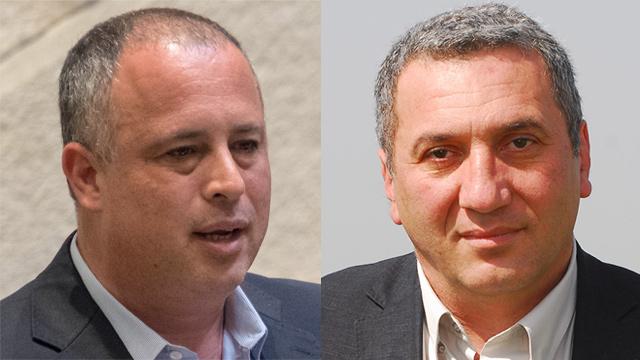 רוברט טיבייב וחיליק בר (צילום: הרצל יוסף, יואב דודקביץ)