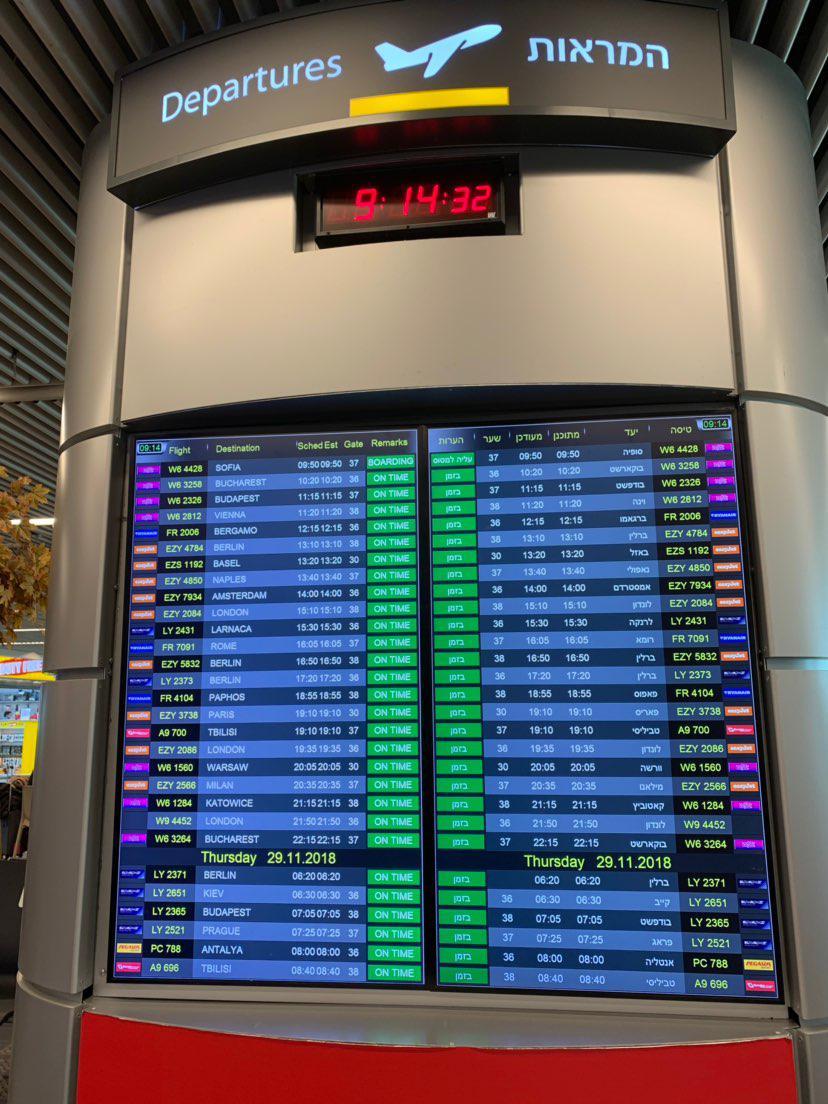 לוח טיסות (צילום: שירי הדר)