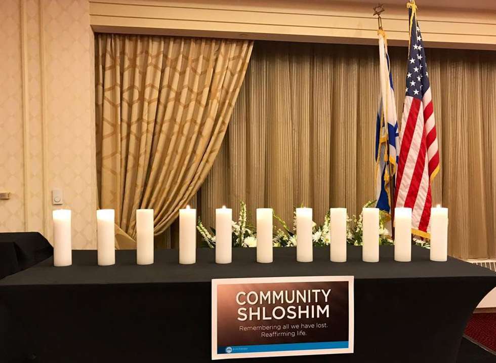 A memorial for those murdered in Pittsburg synagogue