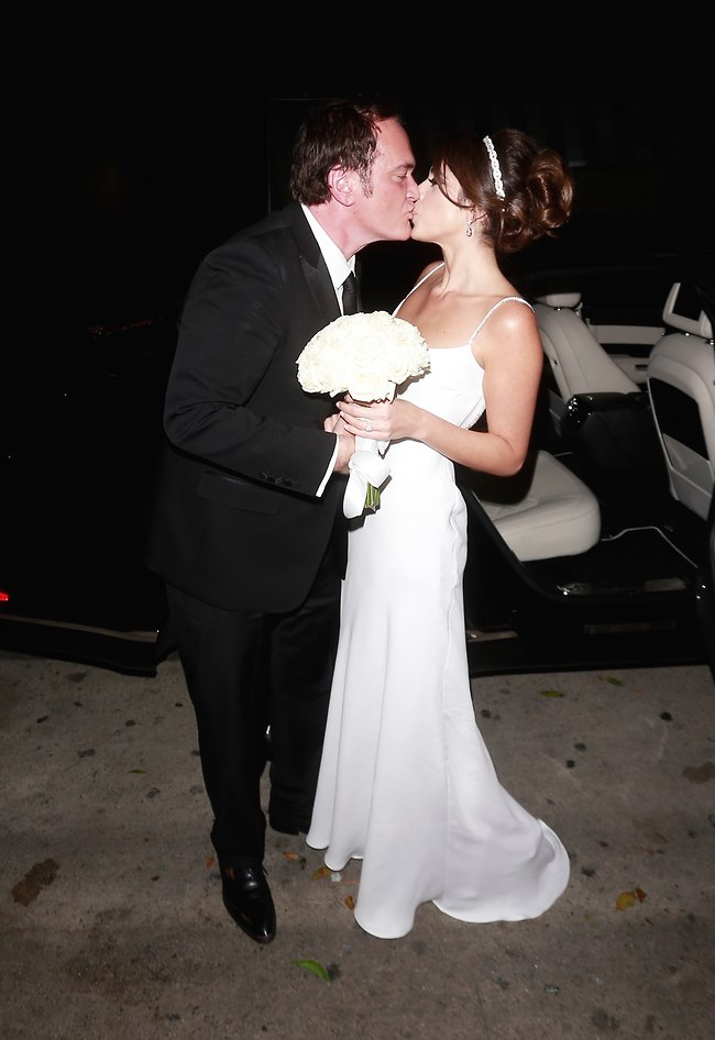 Quentin Tarantino and Daniella Pick at a wedding (Photo: Splash News)