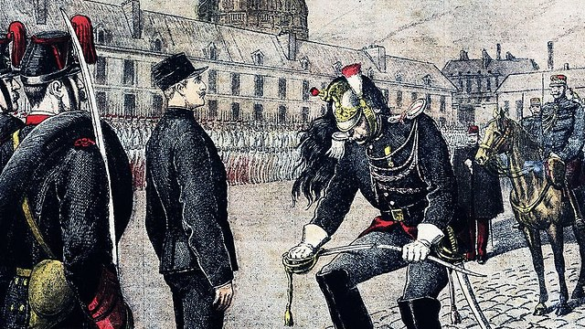 Dreyfus being publicly humiliated after his conviction.