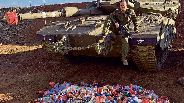 IDF soldier recycles bottles to help Holocaust survivors