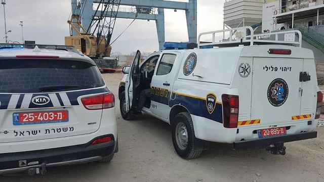 זירת הפיגוע בנמל אילת  ()