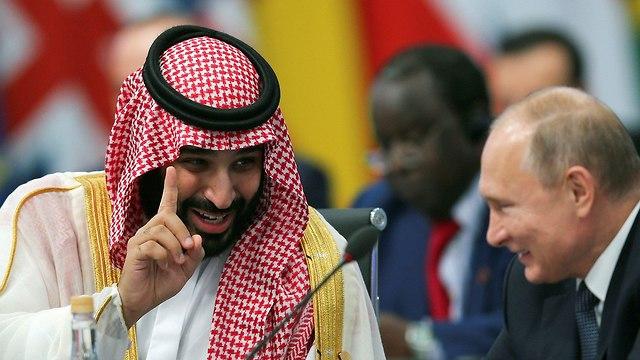 ולדימיר פוטין עם מוחמד בן סלמאן בועידת G20 (צילום: רויטרס)