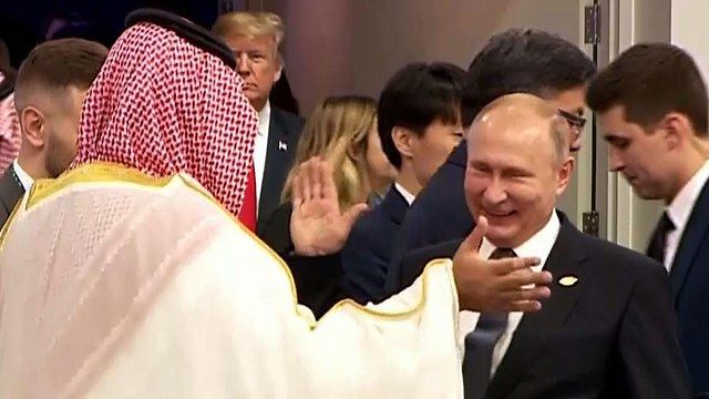ולדימיר פוטין עם מוחמד בן סלמאן בועידת G20 (צילום: AFP)