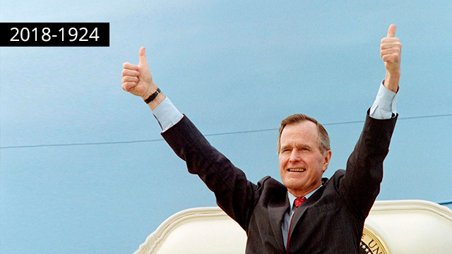 Former President George H.W. Bush (Photo: AFP)