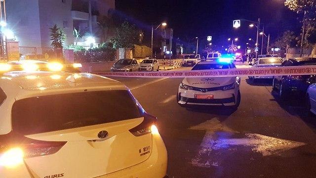 פיצוץ רכב בראשון לציון (צילום: ניצן דרור)