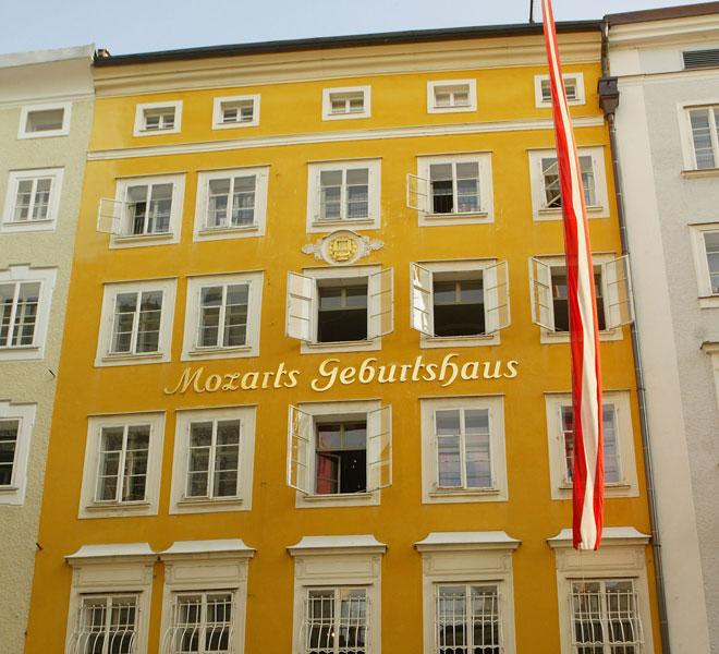 בית ילדותו של מוצרט בזלצבורג. אביו לימד אותו לנגן (צילום: Sean Gallup/GettyimagesIL)