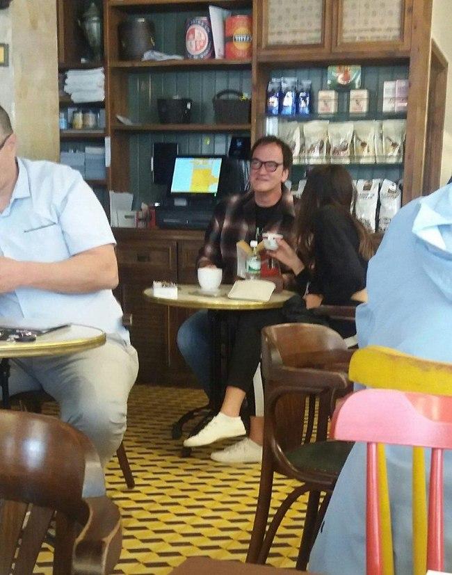 הנשואים הטריים קוונטין טרנטינו ודניאלה פיק הבוקר בתל אביב