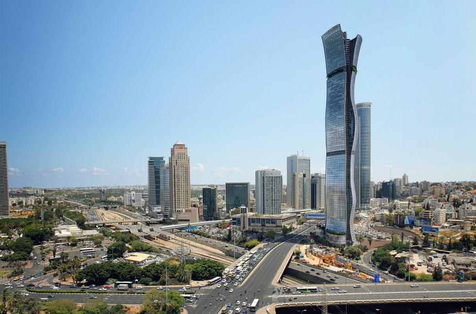 100 קומות מתוכננות במגדל הגובה בישראל, במפגש הערים תל אביב, גבעתיים ורמת גן. בזמן שהאדריכלים מתקוטטים על הקרדיט, מתברר שמישהו אחר קיבל את הפרויקט מלכתחילה, ומישהו אחר עשוי לקבל אותו בסופו של דבר (הדמיה: מילוסלבסקי אדריכלים)