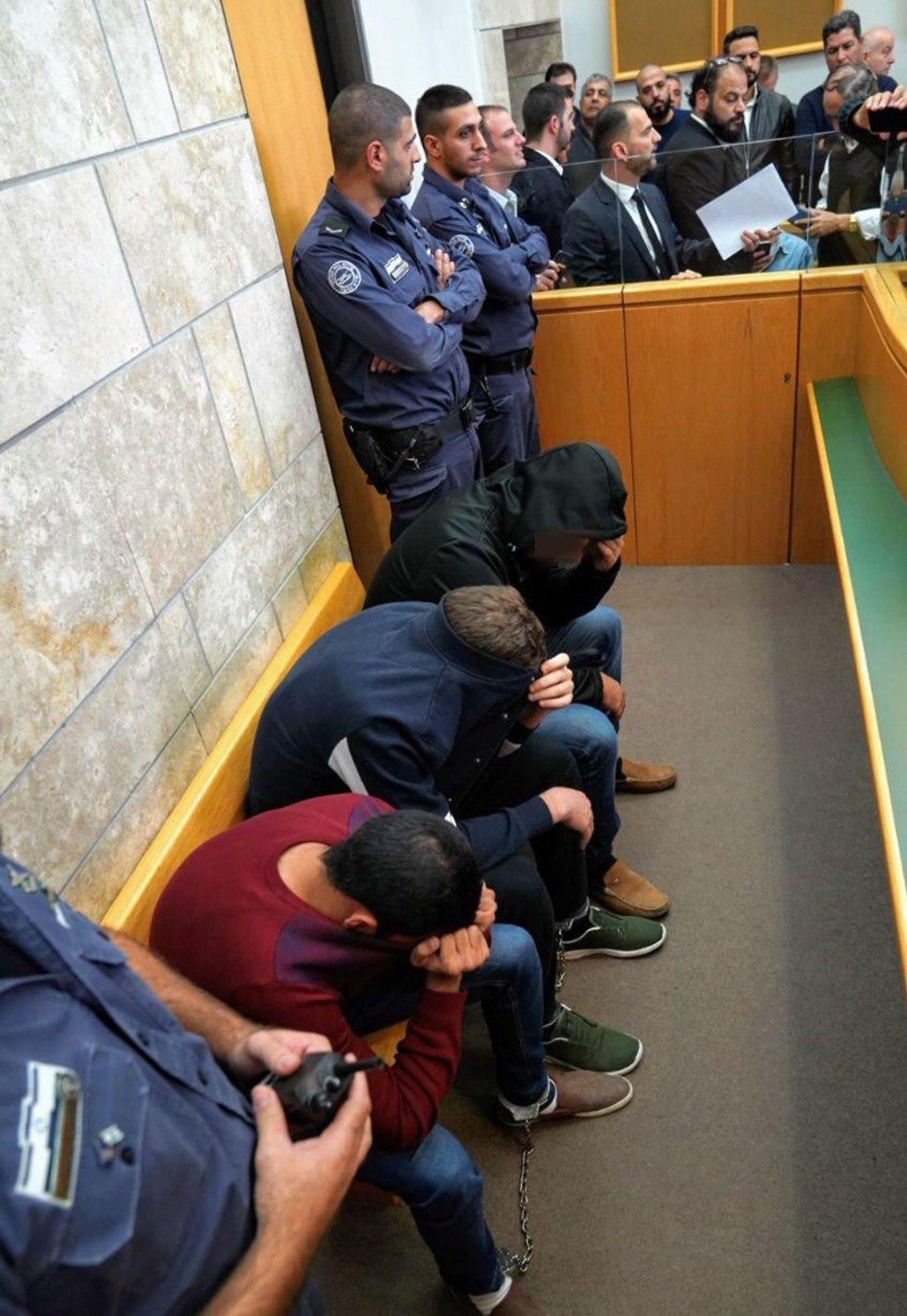 Подозреваемые в суде Нацерета. Фото: Эфи Шaрир