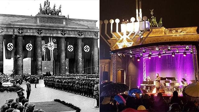 שער ברנדנבורג - אז והיום ()