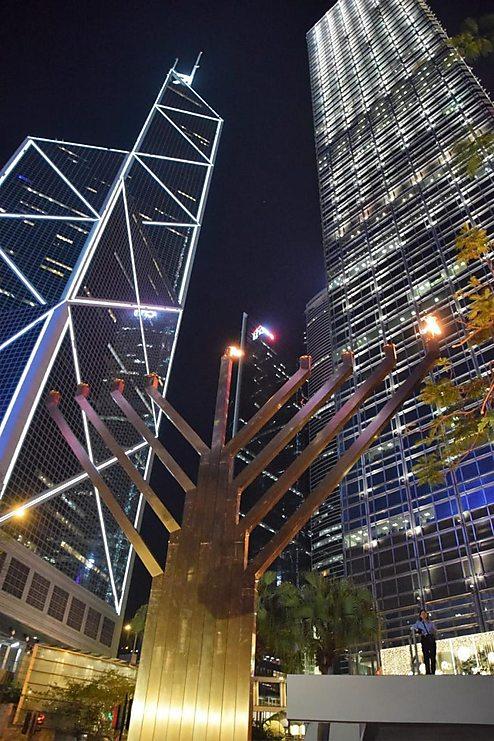 חנוכייה בהונג קונג